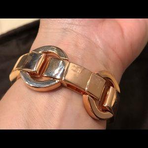 henri bendel Jewelry - Henri Bendel 712 wide link bracelet - rose gold